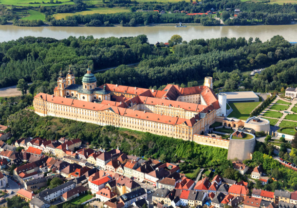 Magnificent Melk Abbey in Lower Austria