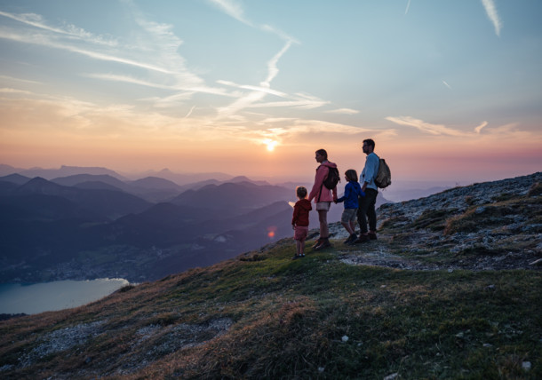sunset at Schafberg mountain